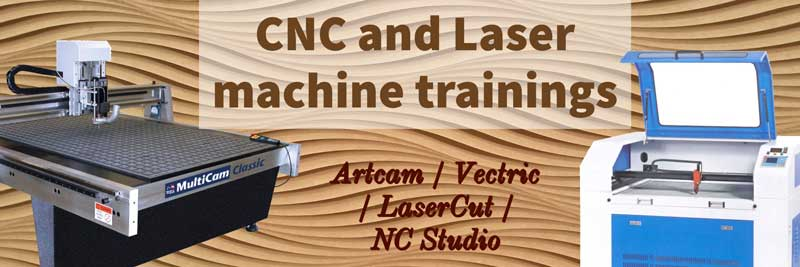 Artcam / Vectric vcarve and laser machine trainings