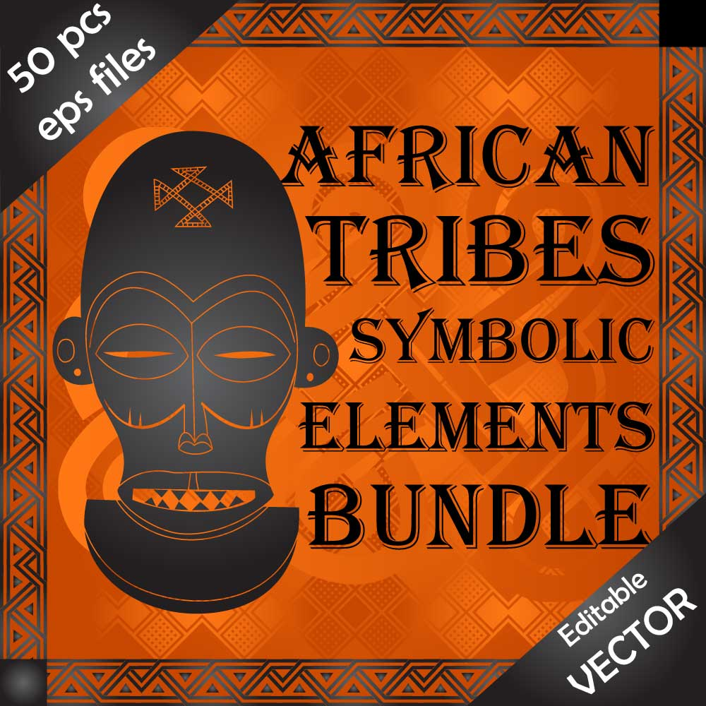 Amazing drawings and ornaments of African tribes. Download Vector designs Image
