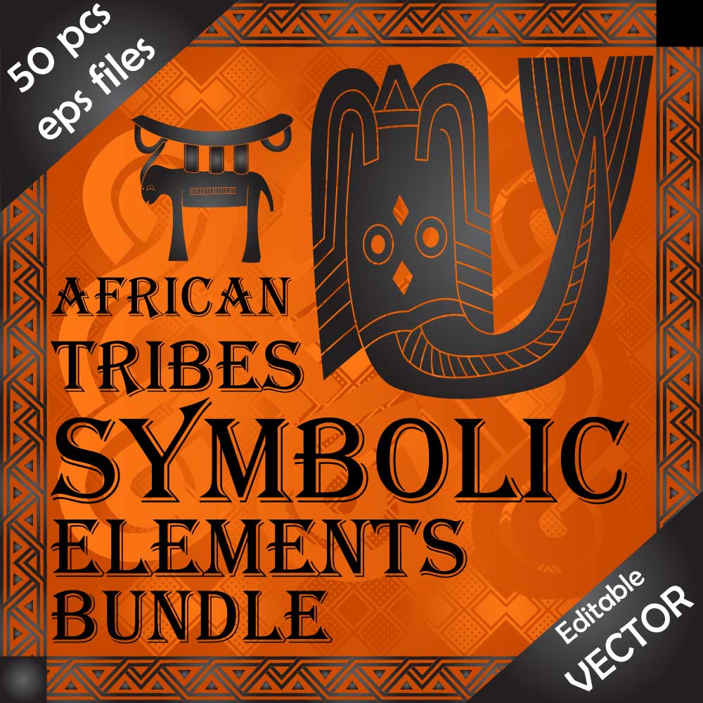 Download African wild tribes culture design elements and symbols Image