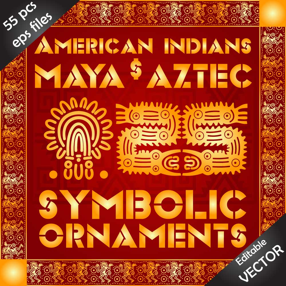 DOWNLOAD 55+ eps files symbolic designs and ornaments in one bundle. Image