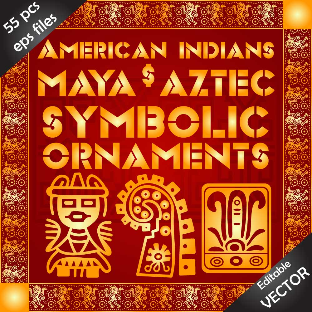 Download decorative ornaments of ancient indian culture. Image