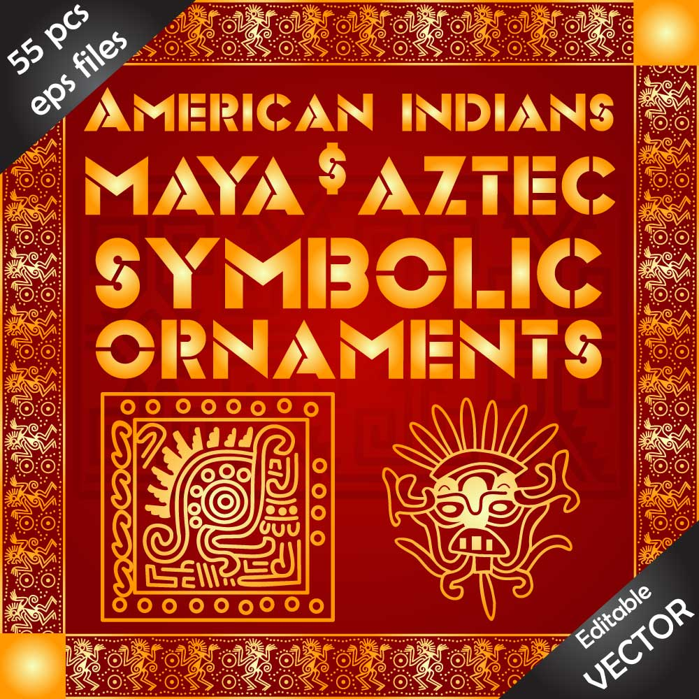 Download EPS decorations and ornaments of american indians Image