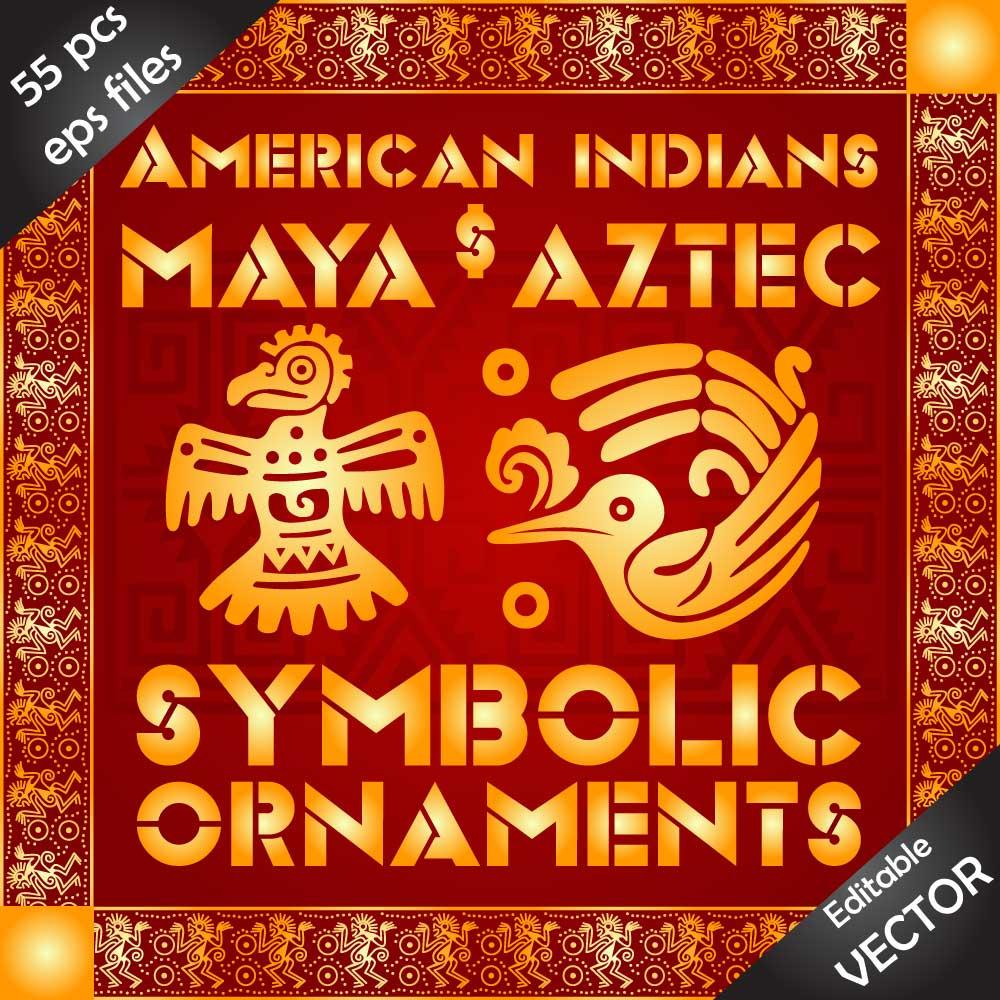 Download EPS vector designs of Native Americans, Aztecs and Maya Image