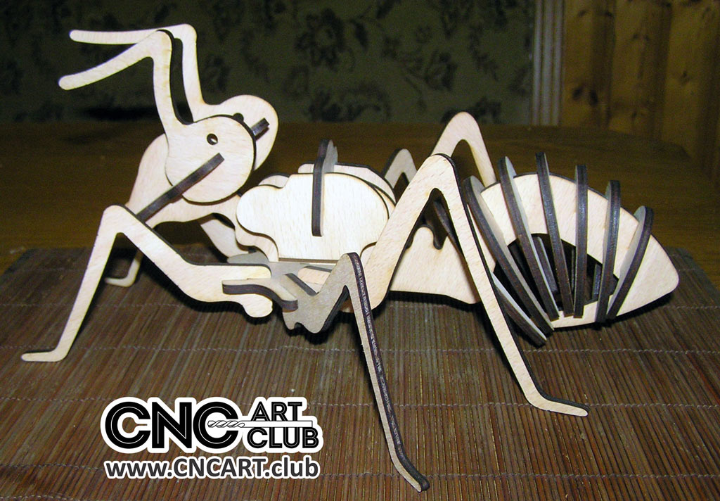 Dxf Plan Of Huge Ant Cnc And Laser Cut