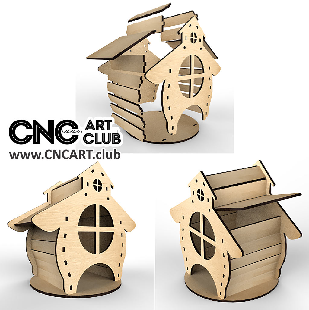 Small Cute House Plan For Cnc Router And Laser Cut