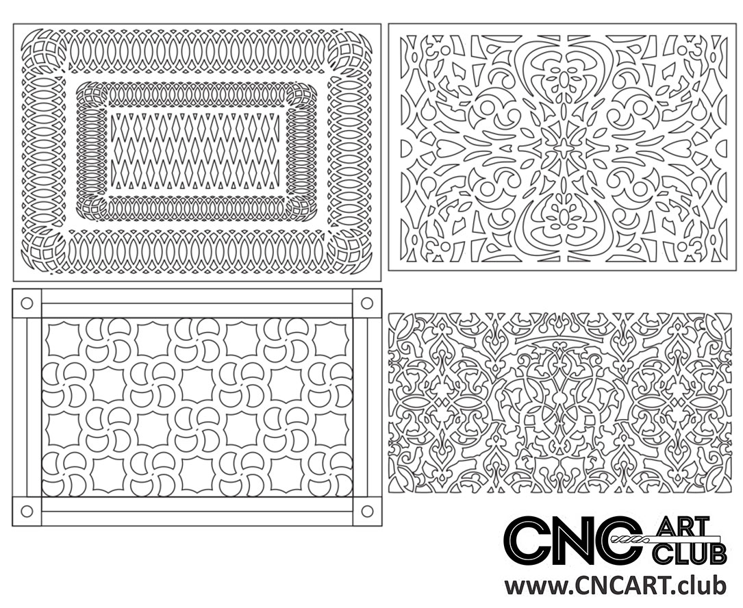 Download Free Lattice divider pattern for CNC and Laser