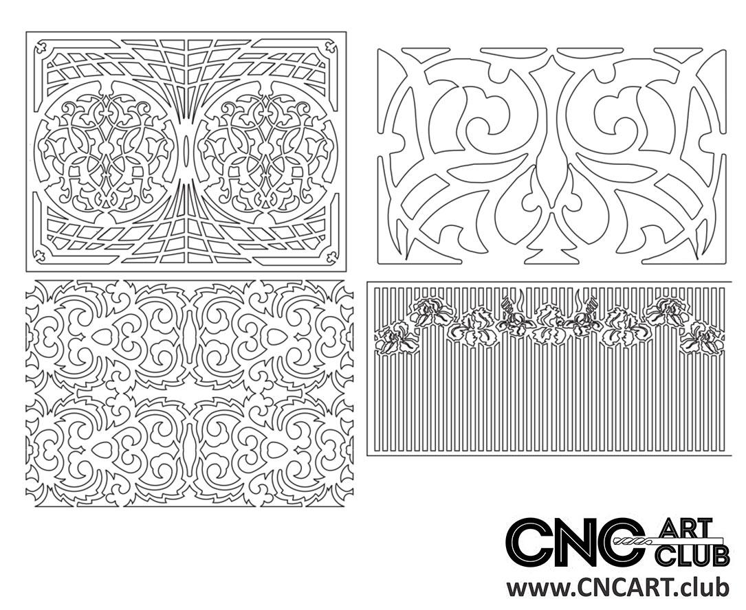 Download Free Lattice divider floral pattern for CNC and Laser