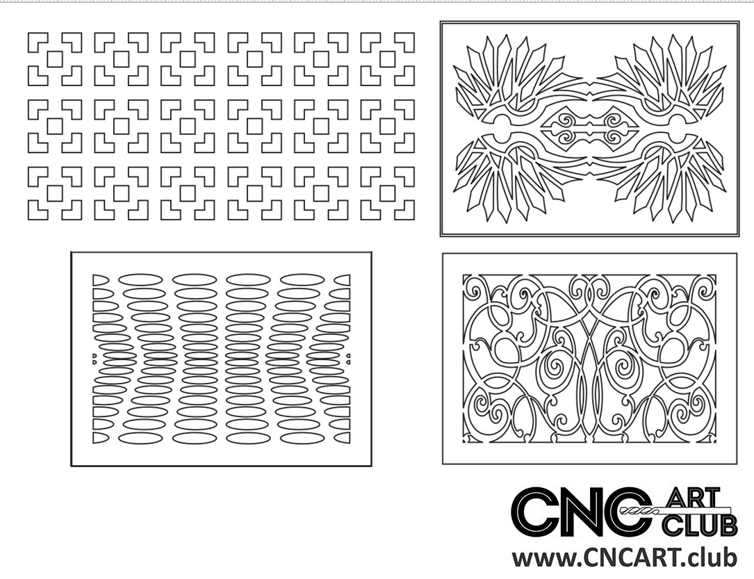Download Free Lattice divider floral pattern for CNC and