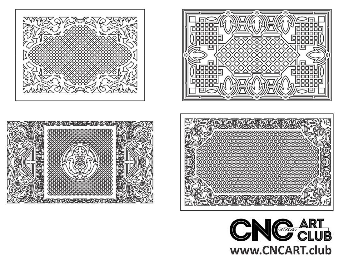 Download Free Classic Decorative Lattice divider pattern for CNC