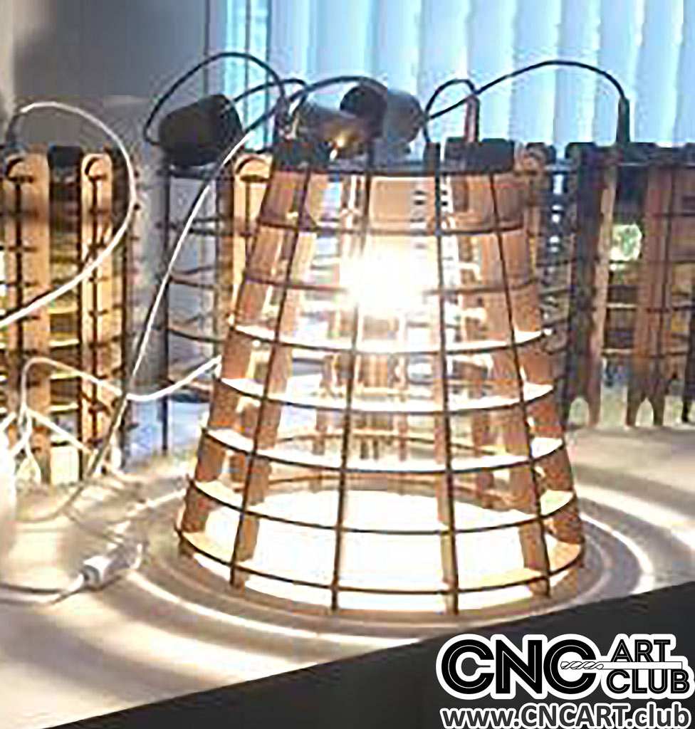Download DXF plans of Wooden lamps for Laser cut