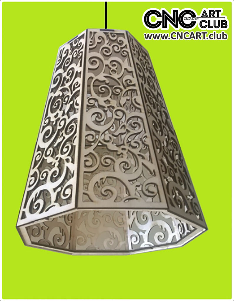 suitable for mass production Lamp shade bulb Digital design Vector cutting plan CNC file. design for laser CNC and CNC milling