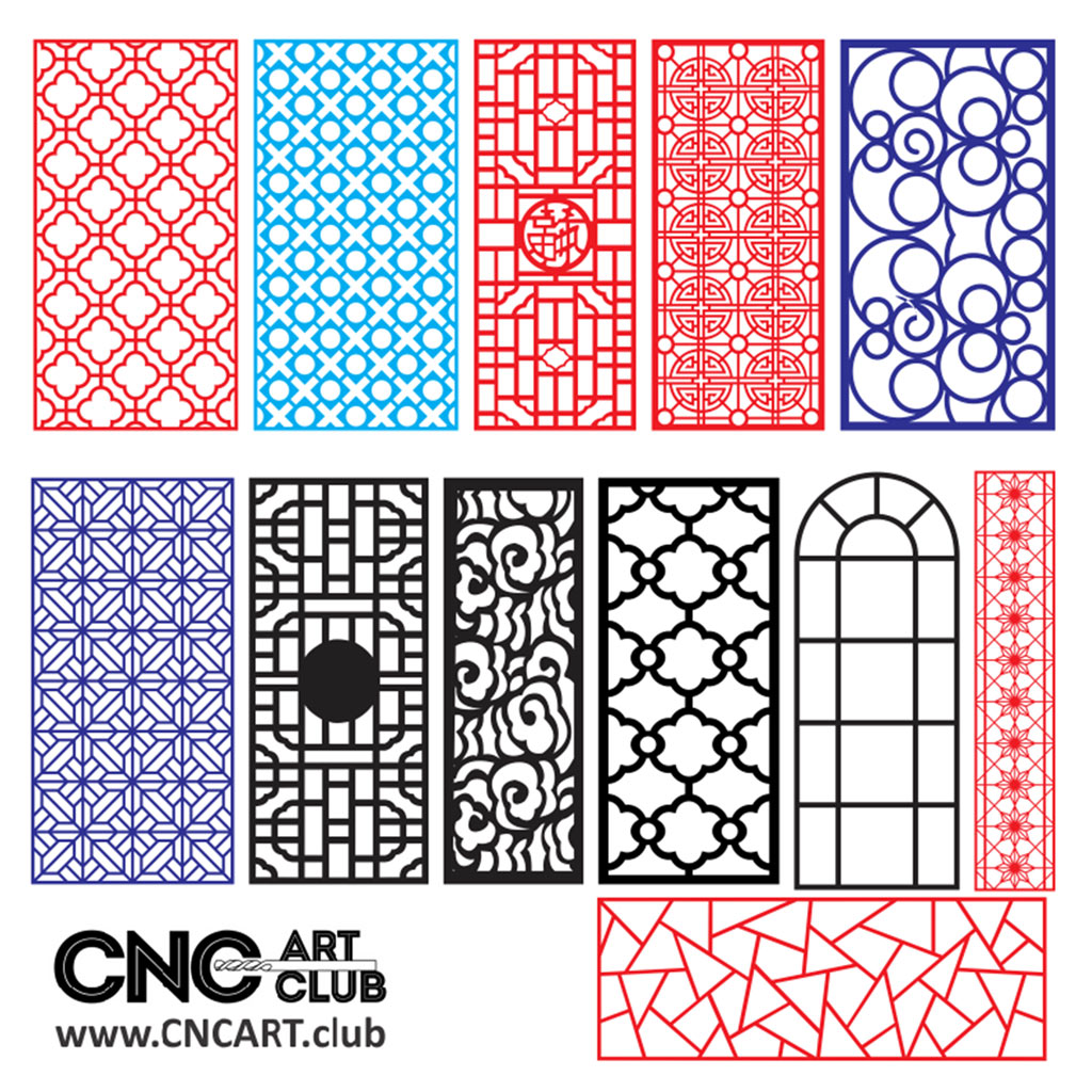 Download for free 2D Patterns for laser machine cut and CNC