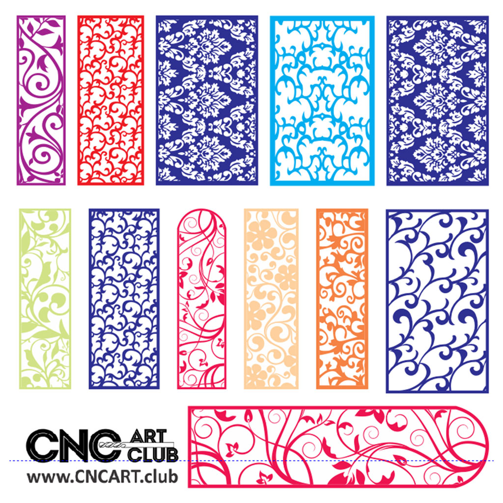 Download for free 2D Patterns for laser machine cut and CNC carving