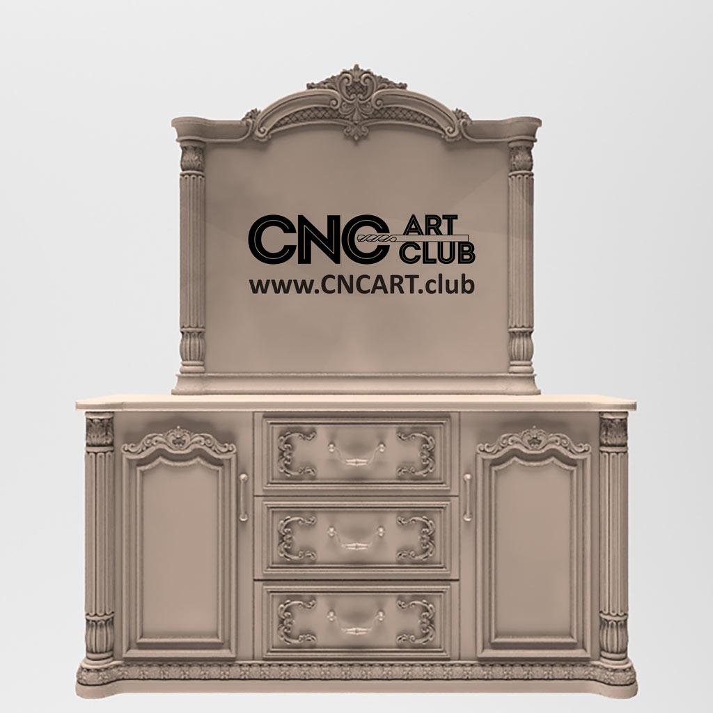 Download STL 3D Furniture designs to cut on CNC