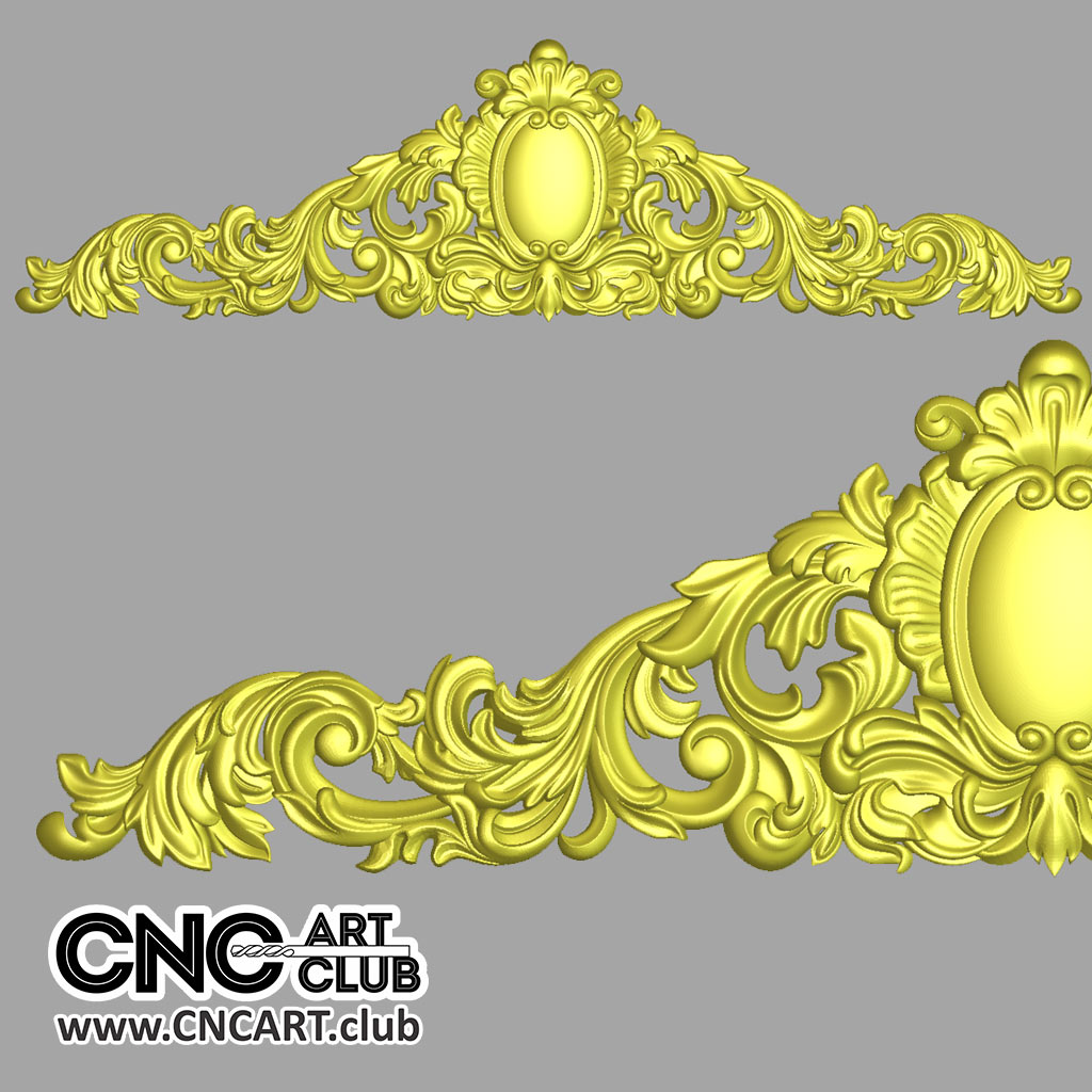 Download Floral Decorative Classic Overlay STL File