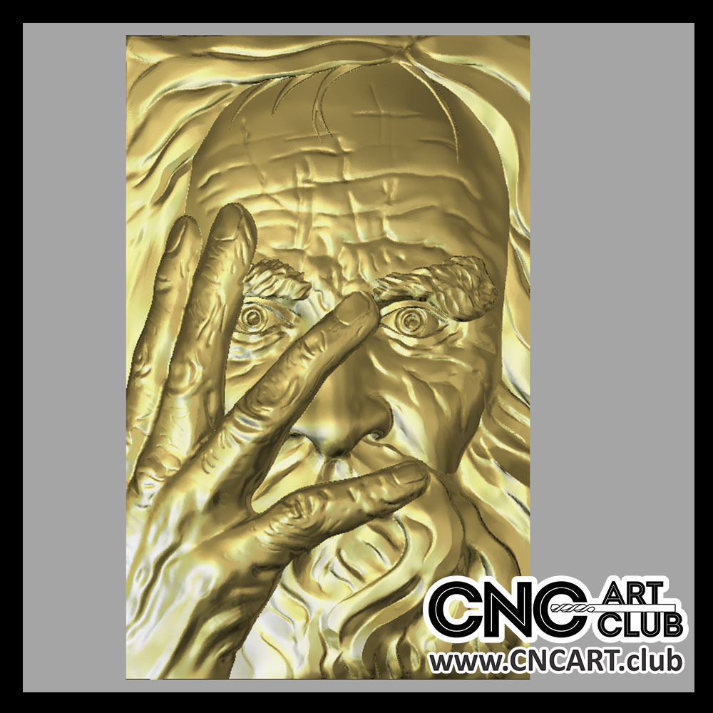 Old Man Face 3D Stl File For Cnc Machining Download Free-6487