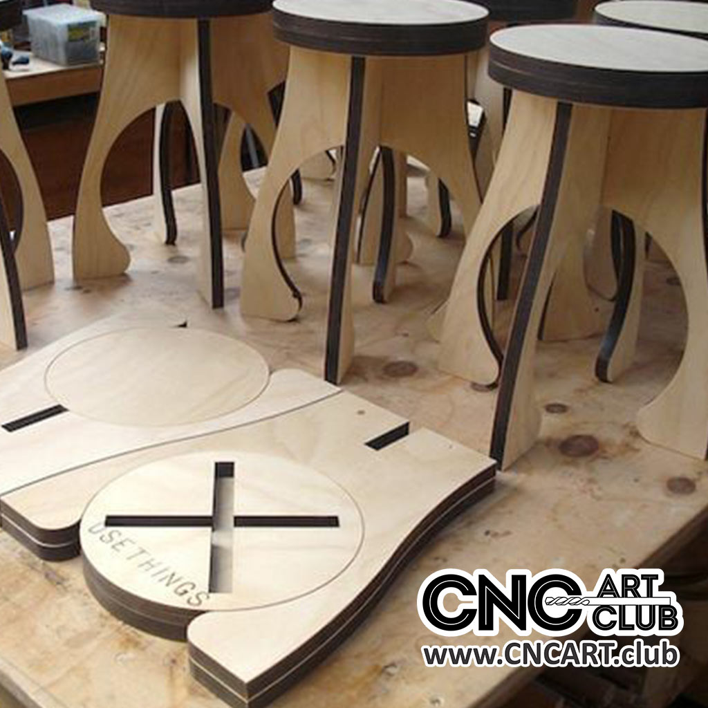 Simple Chair Dxf Plan For Cnc And Laser Cutting
