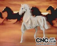 2D 10001 Horse Dxf Plan For Cnc And Laser Cutting