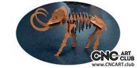 2D 10004 3D Mommoth Design Plane To Download DXF Design