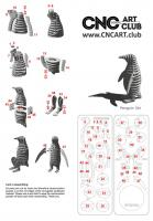 2D 10013 Download Penguin Desing Plane Cut In Laser Machine