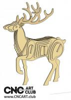 2D 10019 Deer Dxf Plane For Laser Machine And Cnc
