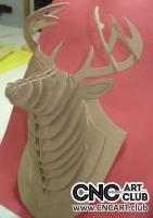 2D 10022 Deer Head Cdr File For Cnc And Laser Machine