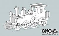 2D 20004 Llocomotive DXF Plane To Download Free For Cnc And Laser