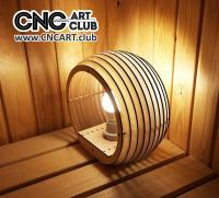 2D 30002 Wooden Lamp For Laser Machine And Cnc Download