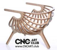 Download Elegant chair plan for cnc machining