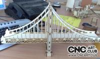 Golden gates DXF plan for CNC woodworking and Laser cut