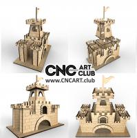2D 40005 Castle Download Plane Design For Laser Cutting