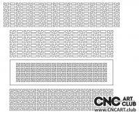 2D 50005 Download Free Lattice Divider Design Pattern DXF CDR