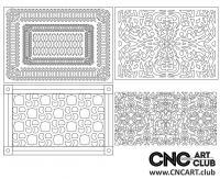 2D 50006 Bundle Download Free Lattice Divider Design Pattern DXF CDR