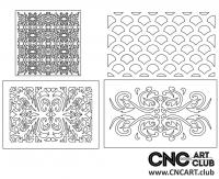 2D 50007 4 Mixed  Download Free Lattice Divider Design Pattern DXF CDR