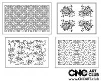 2D 50009 Decorative Download Free Lattice Divider Design Pattern DXF CDR0