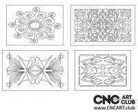 2D 50010 Decorative Download Free Lattice Divider Design Pattern DXF CDR