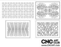 2D 50011 Decorative Download Free Lattice Divider Design Pattern DXF CDR