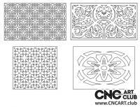 2D 50012 Decorative Download Free Lattice Divider Design Pattern DXF CDR