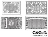 2D 50014 Decorative Download Free Lattice Divider Design Pattern DXF CDR