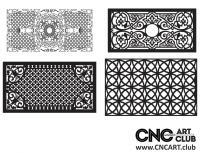 2D 50015 Decorative Download Free Lattice Divider Design Pattern DXF CDR