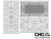 2D 50016 Decorative Download Free Lattice Divider Design Pattern DXF CDR