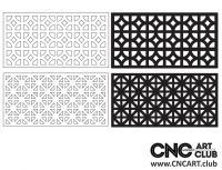 2D 50017 Decorative Download Free Lattice Divider Design Pattern DXF CDR