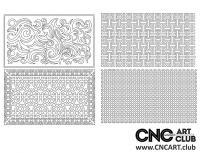 2D 50018 Decorative Download Free Lattice Divider Design Pattern DXF CDR