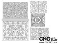 2D 50019 Decorative Download Free Lattice Divider Design Pattern DXF CDR