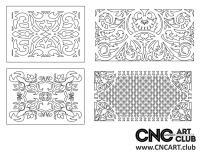2D 50020 Decorative Download Free Lattice Divider Design Pattern DXF CDR