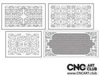 2D 50021 Decorative Download Free Lattice Divider Design Pattern DXF CDR