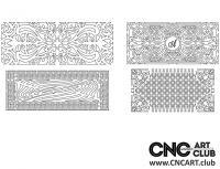 2D 50022 Decorative Download Free Lattice Divider Design Pattern DXF CDR