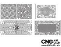 2D 50023 Decorative Download Free Lattice Divider Design Pattern DXF CDR