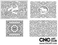 2D 50024 Decorative Download Free Lattice Divider Design Pattern DXF CDR