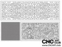 2D 50025 Decorative Download Free Lattice Divider Design Pattern DXF CDR